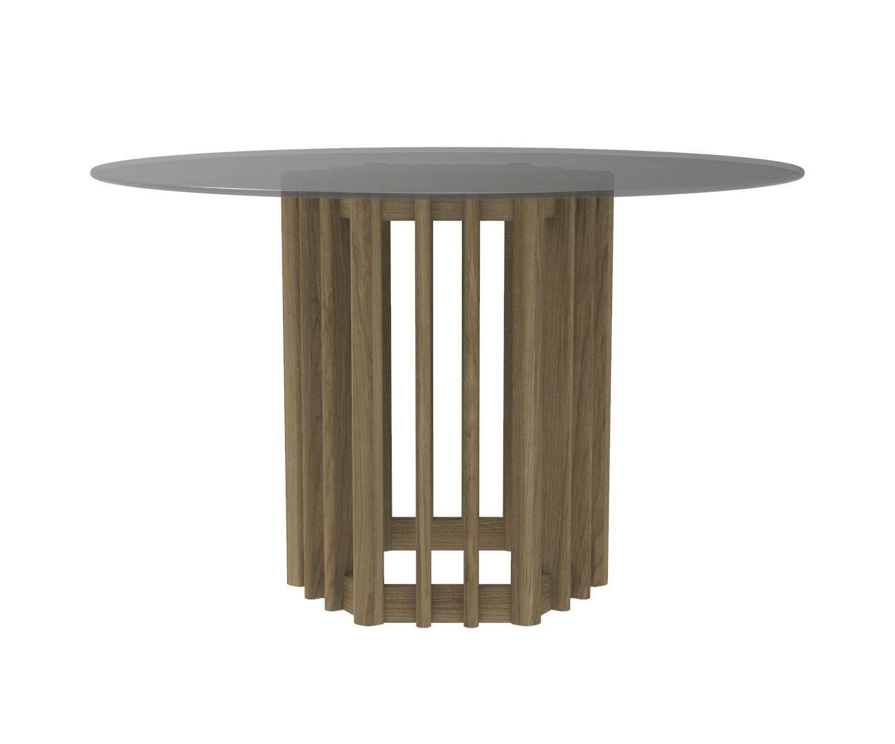Japandi Inspired Eiko Round Dining Table with a Glass Top