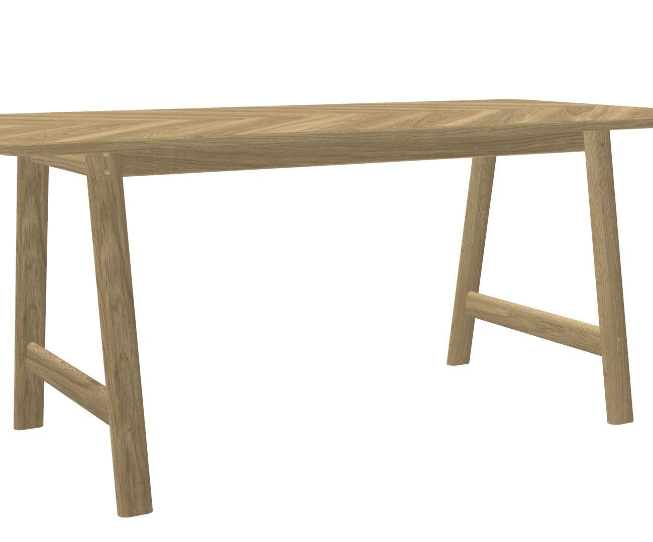 The Contemporary Juno Table with A Chevron Veneer Grain Top